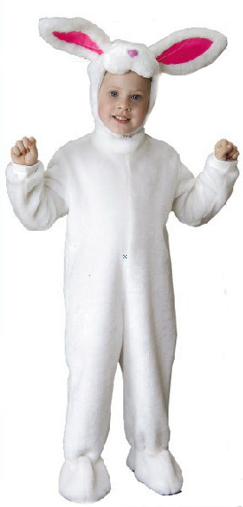 Child's Deluxe White Bunny Rabbit Costume
