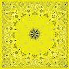 Antique Style Yellow Paisley Bandanas