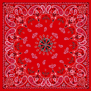Antique Style Red Paisley Bandanas