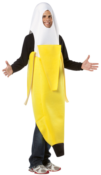 Adult Peeled Banana Costume