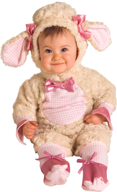 Baby Girl Pink Lamb Costume