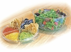 9 PC Plastic Salad Party Server Tray