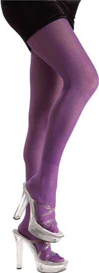 Adult Purple Glitter Costume Tights