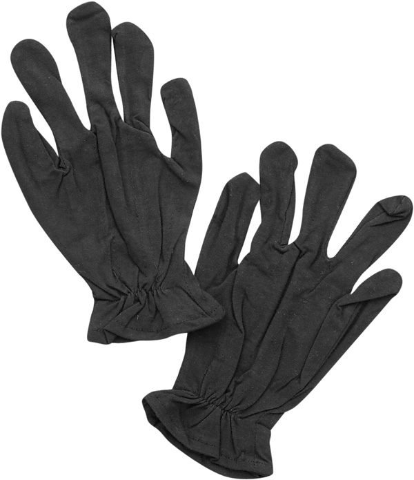 Adult Black Cotton Costume Gloves