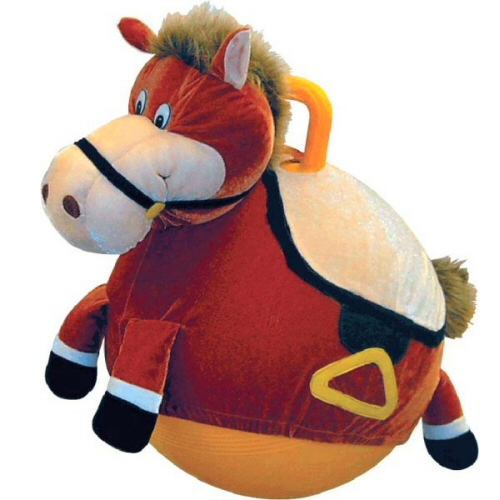 Hop-Along Plush Horse Hop Ball Hopper