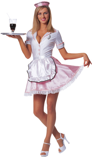 Adult Sexy 50s Diner Waitress Costume