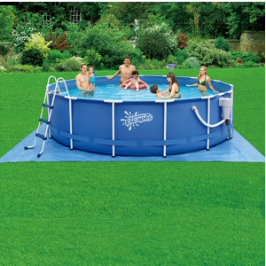 "Summer Escapes 15' x 42"" Above Ground Frame Pool Set"