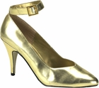 Gold Pumps in Large Sizes