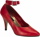 Red Pumps in Large Sizes