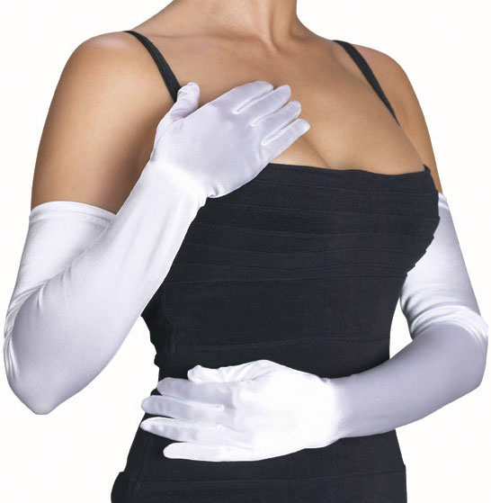Adult White Opera Gloves