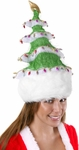 Adult Green Christmas Tree Hat