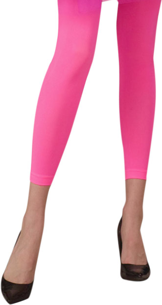 Woman's 80s Style Neon Pink Leggings
