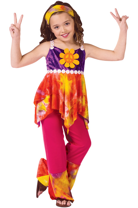 Child's Tie Dye Hippie Costume