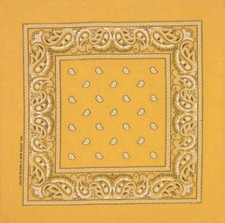 Gold Paisley Bandanas Wholesale