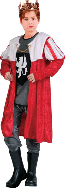 Child's Red Kings Robe Costume