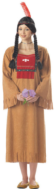Adult Native American Indian Lady Costume