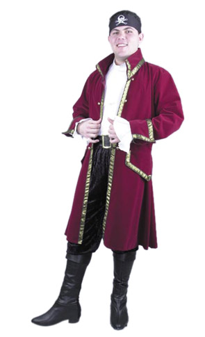 Velvet Pirate Captain Costume