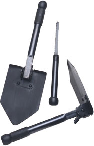 Folding Survival Shovel w/Saw