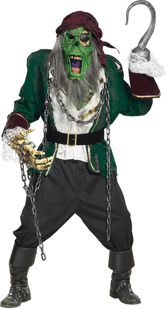 Adult Pirate Zombie Costume