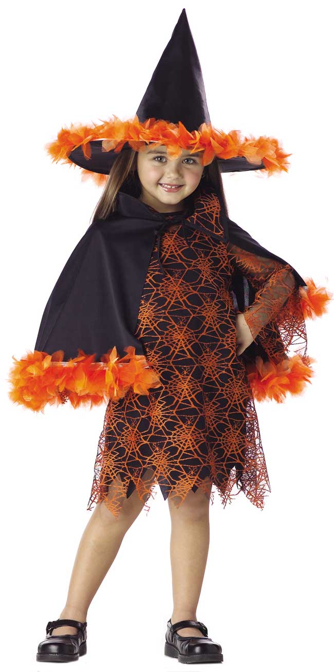 Toddler Orange Witch Costume