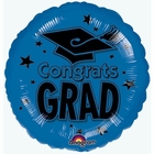 Blue 18 Inch Graduation Foil Balloon