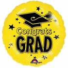 Yellow 18 Inch Graduation Foil Balloon