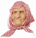 Don Post Old Lady W/ Scarf Mask