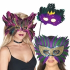 Purple Masquerade Masks