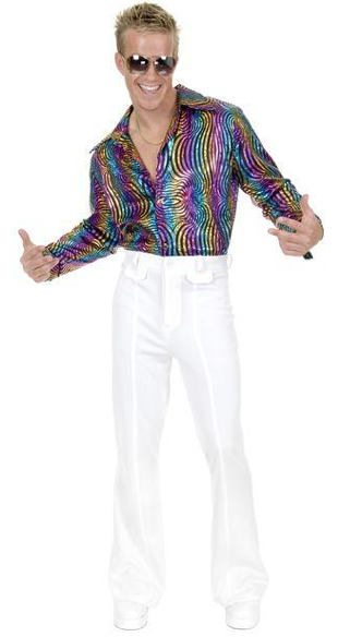Men's Multi Glitter Disco Shirt
