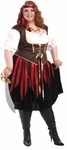 Women's 3-X Plus Size Pirate Lady Costume