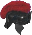 Black & Red Roman Helmet