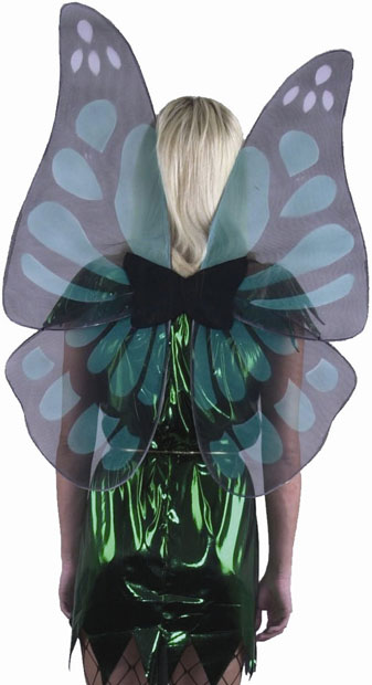 Jade & Black Butterfly Costume Wings
