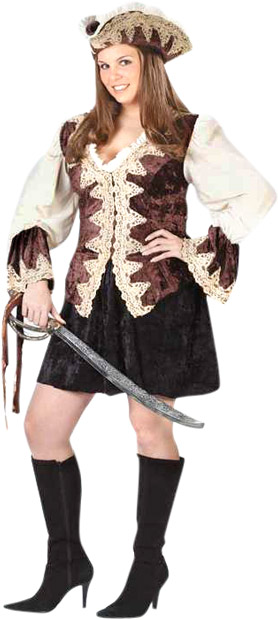 Women's Sexy Plus Size Royal Pirate Costume