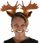 Adult Moose Headband with Antlers and Ears
