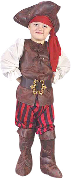 Toddler High Seas Boy Pirate Costume