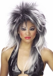 White & Black Punk Wig