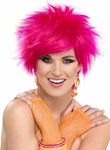 Woman's Pink 80s Style Wig