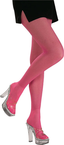 Adult Pink Glitter Costume Tights