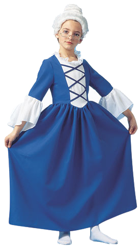 Child's Martha Washington Costume
