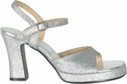 Women's 70s Silver Glitter Disco Shoes