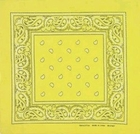 Yellow Paisley Bandanas Wholesale
