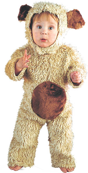 Toddler Furry Oatmeal Bear Costume