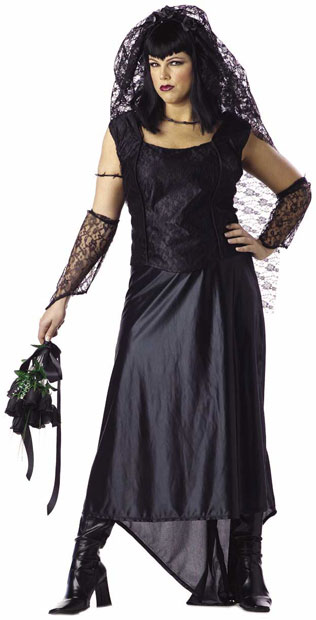 Plus Size Gothic Bride Costume