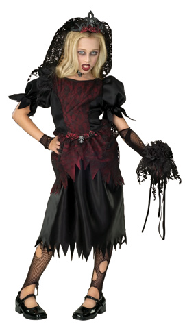 Child's Gothic Prom Queen Costume