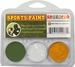 Green, White, Yellow Face Paint Kit for Sports Fans