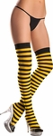 Black & Yellow Over the Knee Striped Stockings