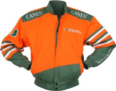 Miami Hurricanes NCAA Twill Jacket