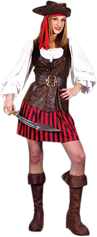 Adult High Seas Buccaneer Pirate Lady Costume