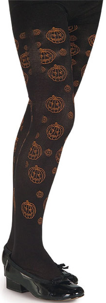 Child's Pumpkin Costume Tights