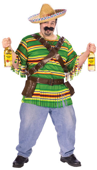 Plus Size Adult Mexican Tequila Shot Costume